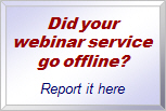 Report hosted webinar unavailability
