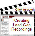 Watch a short presentation on creating lead gen recordings