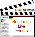 Watch a short presentation on recording live events